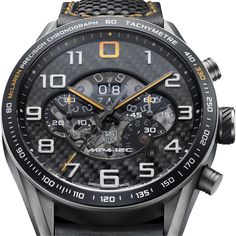 TAG Heuer for McLaren MP4-12C, $14,500. Wish they'd talked to IWC first but Tag's are nice too, I guess.
