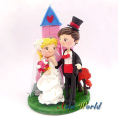 Vintage wedding with dream castle wedding cake topper by AsiaWorld, $84.50