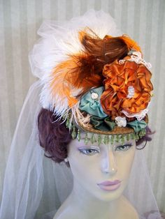 Victorian Mini Riding Hat Steampunk Hat Downton Abbey by MsPurdy, $59.99