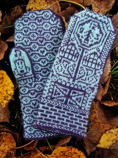 When I'm ready to tackle stranded knitting again, this will be some mittens I knit for sure!