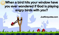 Is God playing Angry Birds with you?