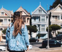 Just a girl, her oversized jacket, and some PAINTED LADIES