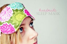 DIY Sleep Mask fill with rice and tea tree oil to make a hot or cold sleep mask
