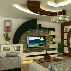 Super living room- Dhoma e dites super Super living room - – Home Decoration design House Ceiling Design, Ceiling Design Living Room, Bedroom False Ceiling Design, Tv Wall Design, Home Room Design, Design Bedroom, Living Room Partition Design, Living Room Tv Unit Designs, Living Room Wall Units
