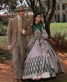 Clark Gable as Rhett Butler and Vivien Leigh as Scarlett O'Hara
