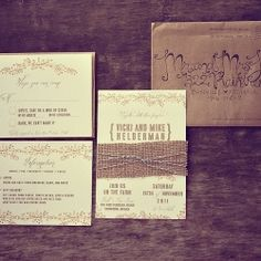 Offset printed invitation suite with hand-addressed envelopes