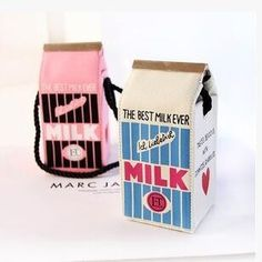 Cute kawaii student milk bags