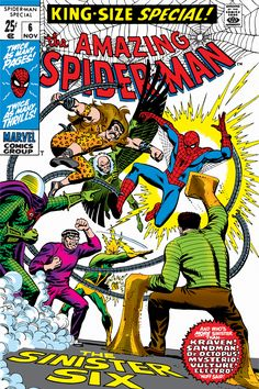 """""""Marvel Comic Book Spider-Man Issue Cover #6"""" - canvas print by Marvel Comics"""