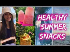 Healthy Summer Snacks | Raw in College - YouTube