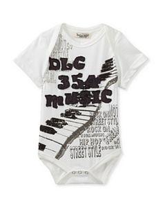 Da Lil Guys Baby Short Sleeve Bodysuit (Music)