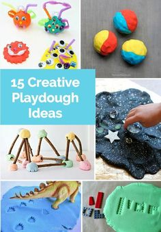 15 Fun and Creative Ways to Play with Playdough. Fun Activities For Kids, Sensory Activities, Hands On Activities, Infant Activities, Sensory Play, Sensory Table, Kids Fun, Projects For Kids, Crafts For Kids