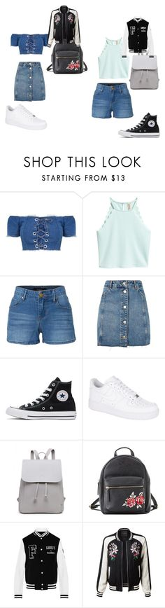 """""""Untitled #70"""" by kimmomochan on Polyvore featuring LE3NO, Topshop, Converse, NIKE and Charlotte Russe"""