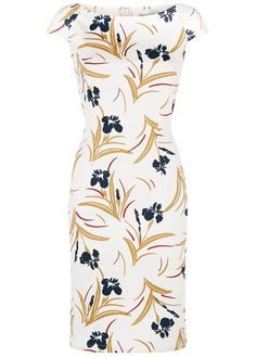 People Tree | Olivia Fitted Dress in Cream