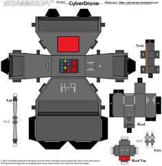 Cut and fold K-9 for hard-core Whovians! :D Art template by Deviant artist CyberDrone