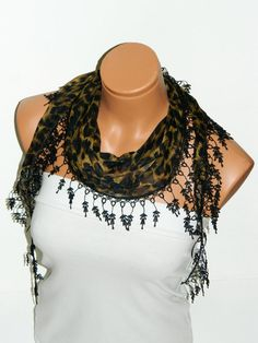 Black Leopard Pattern 2012 summer trends Scarf by WomanStyleStore, $14.00