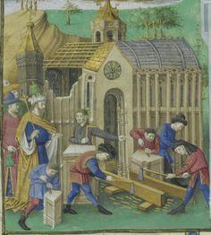 Titre : Mare historiarum ab orbe condito ad annum Christi 1250. authore Joanne de Columma, Romano, ordinis Fratrum Praedicatorum Latin 4915 Folio 46v