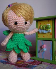 Hada en crochet, Cosplayer de Tinkerbell, $200 en https://ofeliafeliz.com.ar