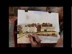▶ How to paint an easy watercolour.of a village by Alan Owen - YouTube