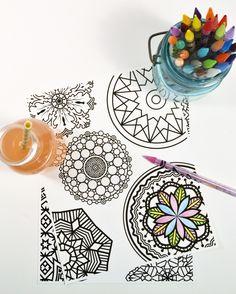 coloring mandalas -