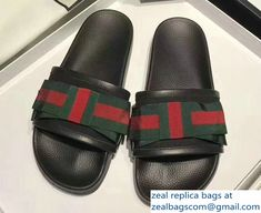 5fe0a3c4a31 Gucci Men  s Slide Sandals Tiger With L aveugle par amour White 2018 ...