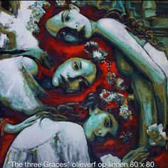 The three Graces painted by Marjo Abels
