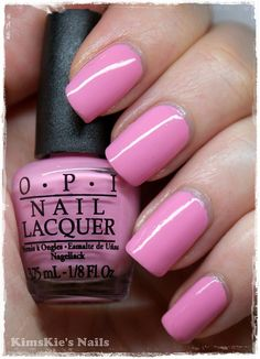 What I'm wearing right now: one of the five colours in Nicki Minaj's OPI line - Pink Friday! I'm loving this shade!