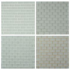 white glass tile grey grout Google Search Home Pinterest