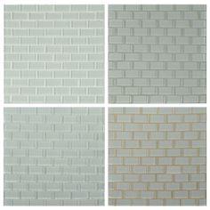 Backsplash on pinterest glass tiles grout and snow white for Back painted glass tile
