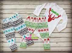 Baby Boys Christmas Outfit reindeer Baby Boy Clothes by MsPerks