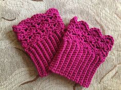 Belmont Boot Toppers cuffs. FREE pattern