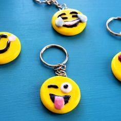 Easy Emoji Key chains made with Polymer clay. 2019 Easy DIY Emoji Key chains made with Polymer clay. A great project for the kids to help with. The post Easy Emoji Key chains made with Polymer clay. 2019 appeared first on Clay ideas. Clay Crafts For Kids, Kids Clay, Diy For Kids, Diy Crafts, Room Crafts, Stick Crafts, Sculpey Clay, Polymer Clay Projects, Emoji Craft