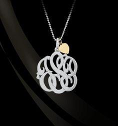 Jane Basch Designs - Mommy Monogram with Chain, $180.00 (http://store.janebasch.com/mommy-monogram-with-chain/)