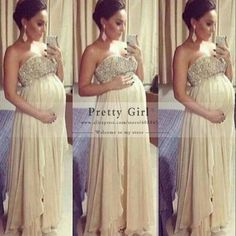 Cheap champagne evening gowns, Buy Quality evening gown directly from China maternity evening Suppliers: Size Maternity Evening Dresses Chiffon Floor Length Champagne Evening Gowns with Beads Maternity Evening Gowns, Formal Evening Dresses, Dress Formal, Formal Prom, Prom Dresses 2016, Backless Prom Dresses, Prom Party Dresses, Party Gowns, Bridesmaids