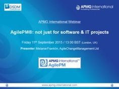 Agile Project Management: not just for software & IT projects