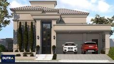 Village House Design, Village Houses, Narrow House Designs, Modern House Design, House Architecture Styles, Beautiful Home Designs, House Illustration, Dream House Exterior, Mediterranean Homes