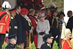 The Queen appeared in good spirits as she was met by politicians including Home Secretary ...