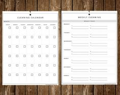 This neat and tidy cleaning calendar. | 22 Life-Changing Printables You Need This Year