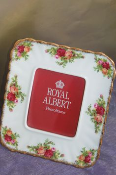 Royal Albert Old Country Roses Photo Frame.  Made In England. Beautiful Fine Bone China. by AtticBazaar on Etsy