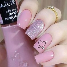Semi-permanent varnish, false nails, patches: which manicure to choose? - My Nails Best Acrylic Nails, Acrylic Nail Designs, Nail Art Designs, Heart Nail Designs, Pretty Nail Designs, Simple Nail Designs, Classy Nails, Trendy Nails, Cute Nails