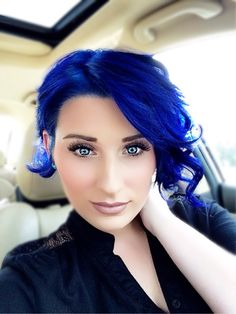 My New Blue Hair Done By Me I Used A Formula Consisting Of Pravana Neons