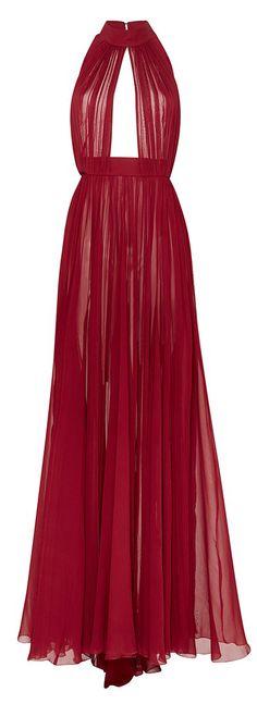 Scarlett Silk Halter Gown   Elie Saab