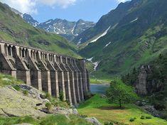 Downstream side of failed Gleno dam, Valle di Scalve in the northern Province of Bergamo, Italy. Trekking, Sicily Italy, Construction, Northern Italy, Abandoned Places, Abandoned Buildings, Decir No, World, Chilling