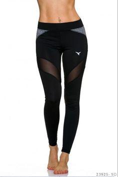 Αθλητικό κολάν με πλάγιες διαφάνεις - Μαύρο I Work Out, Sportswear, Leggings, Fitness, Pants, Outfits, Inspiration, Fashion, Tall Clothing