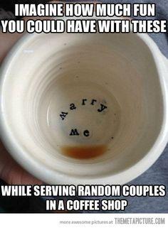 Marry me mugs