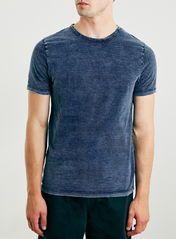 Slim Indigo Wash Crew T-Shirt