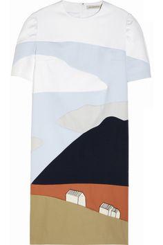 Vika Gazinskaya|Patchwork cotton landscape dress|NET-A-PORTER.COM