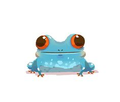 https://flic.kr/p/bjxHf4 | Frog | Just a frog. It started out as a cute green one, turned into a scrappy blue one. Meh.