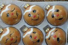 painted gingerbread ornaments