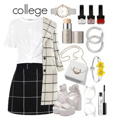 """""""college outfit"""" by priyaarun ❤ liked on Polyvore featuring T By Alexander Wang, Allegra K, MAC Cosmetics and Ilia"""