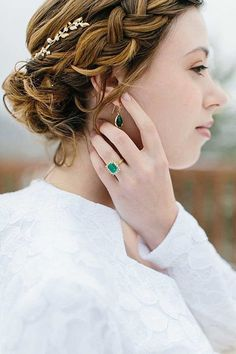 I not looking at the hair but the ring! I love emeralds and this ring is an eye catcher.